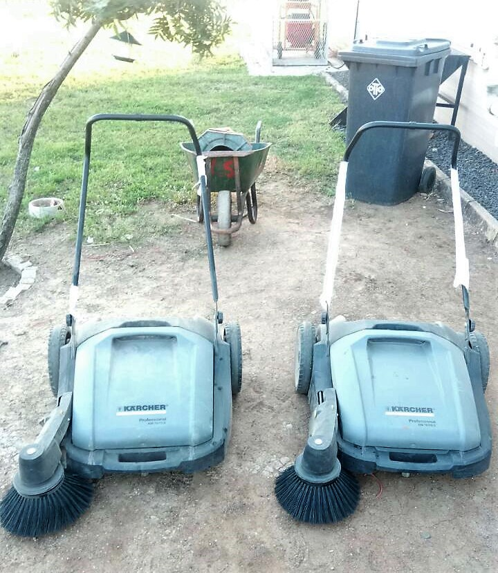 Two Push-Sweepers For Bridge City