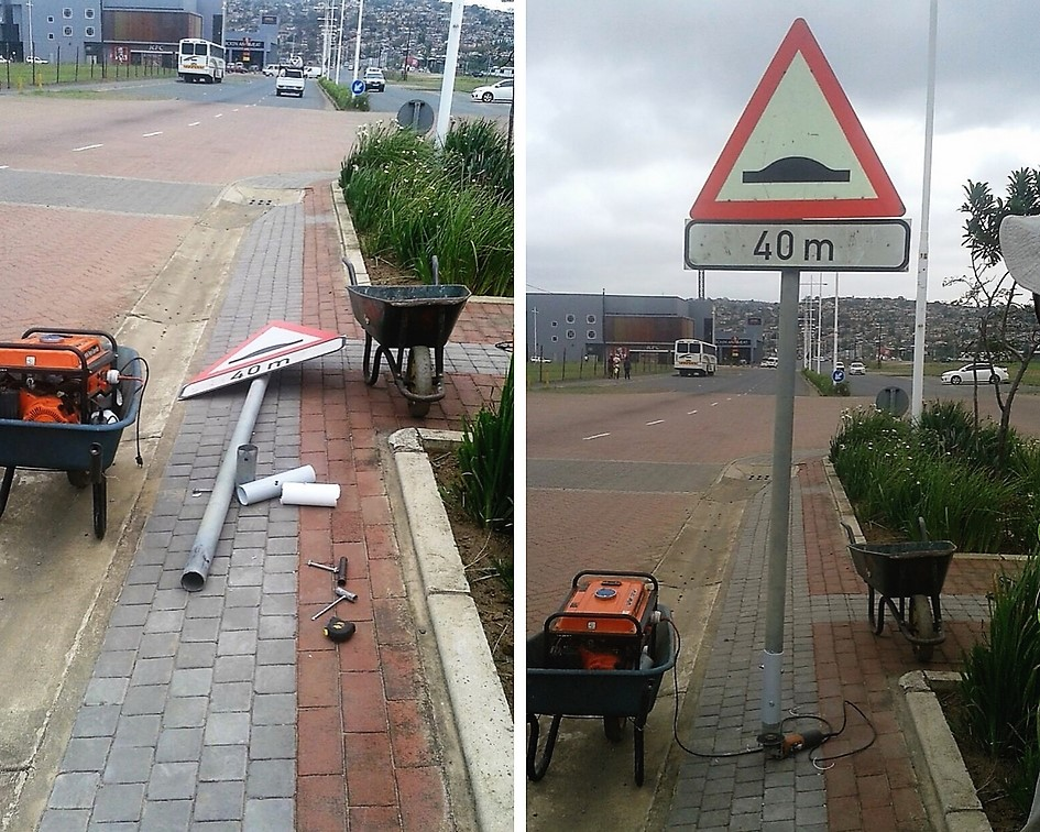 Road Signs Replaced