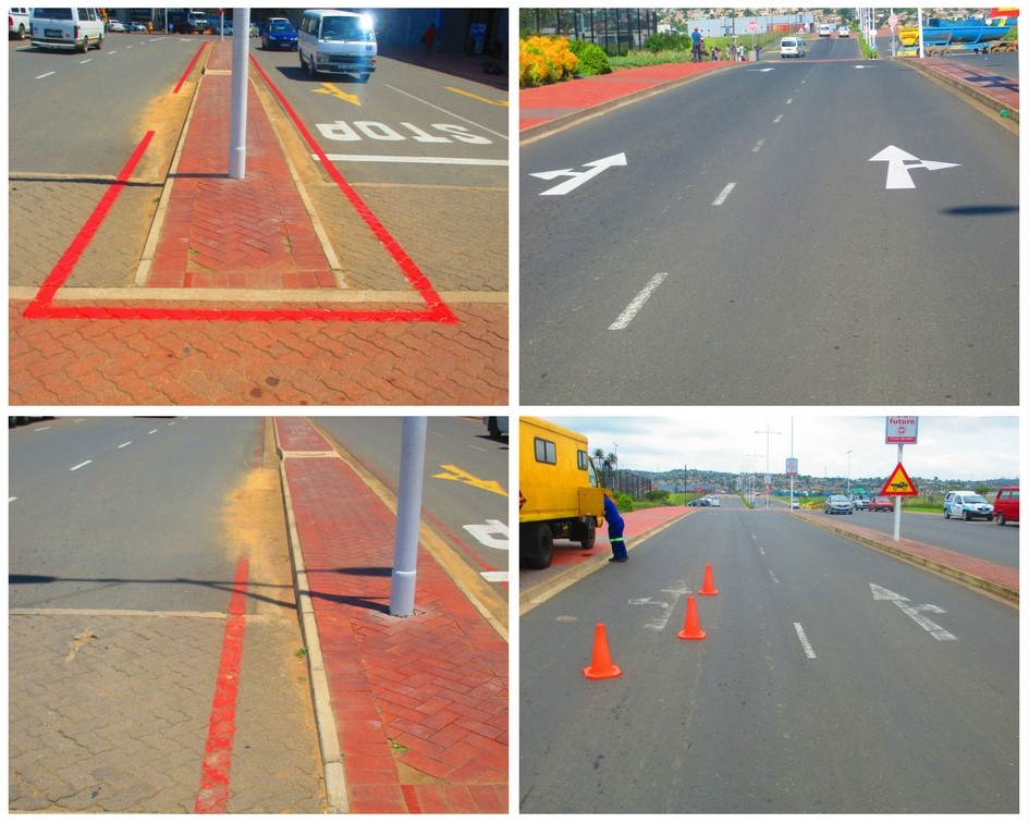 Faded Road marking's repainted