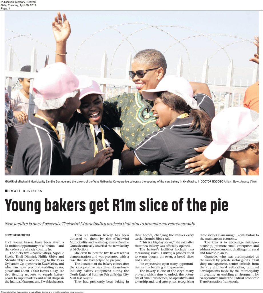 INK Bakery Gets R1m Slice Of The Pie